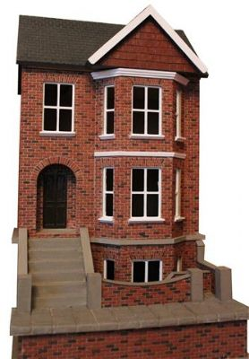 Decorated Bay View Dolls House with Basement