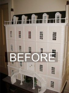 Dolls House front facade before replacement