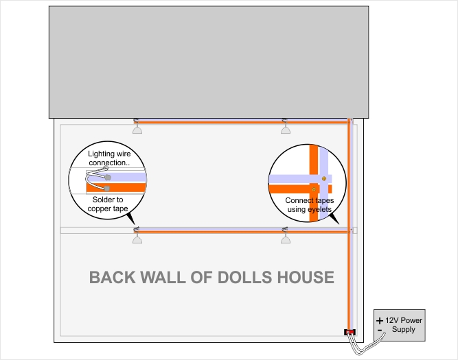 dolls house wiring and lighting guide from bromley craft products ltd rh craft products com House Breaker Box Wiring Diagram Home Electrical Wiring Diagrams