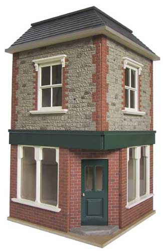 Bromley craft products decorating a dolls house kit for Brick kit homes