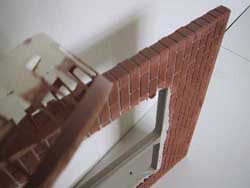 Bricks on Dolls House Door Edges