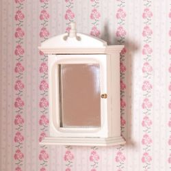 White Bathroom Cabinet with Mirror