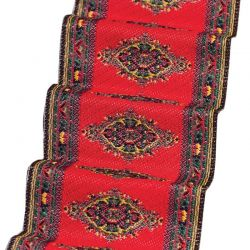 Dolls House Stair Carpet - Red Motif