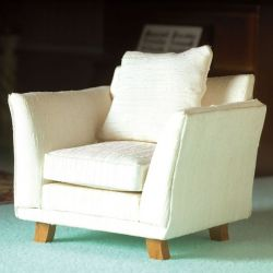 Classic Cream Chair for Dolls House