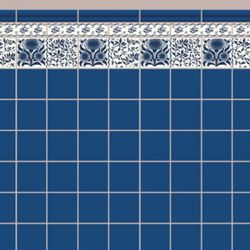 Blue Oreton Tile Wallpaper