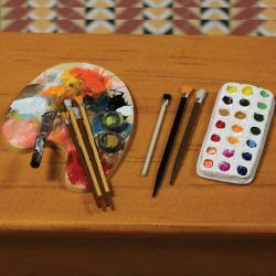Artists Palette, Brushes & Paints