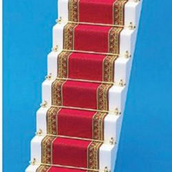 Dolls House Stair Carpet - Red & Gold