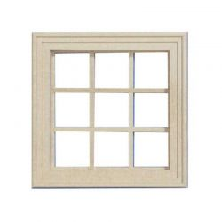 Small Wooden Window 9 Pane
