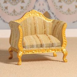 Gold & Silver Louis XV Armchair