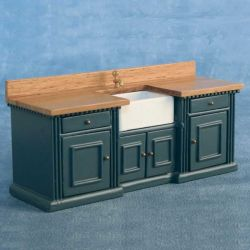 Smallbone Sink Unit Blue / Pine