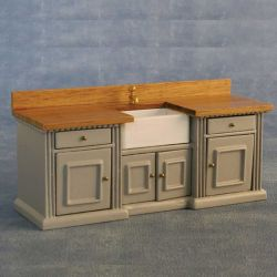 Smallbone Sink Unit Grey / Pine