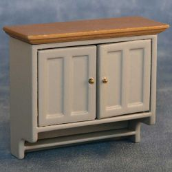 Shaker Style Wall Cabinet - Grey / Pine
