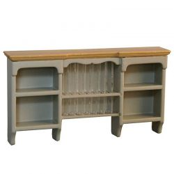 Wall Shelf with Plate Rack - Grey / Pine