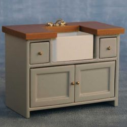 Shaker Style Sink Unit - Grey / Pine