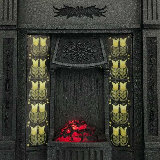 Dolls House Fireplace with Glowing Fire #2