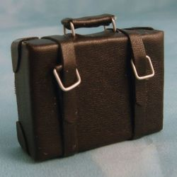 12th Scale Medium Leather Suitcase