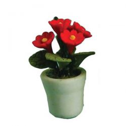 Pot Plant for Dolls House - Red