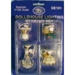 Dolls House Ceiling Light Set