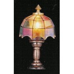 Tiffany Style Lamp - Multi-Coloured Shade