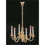 6 Arm Dolls House Chandelier Light - 1:12 scale