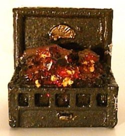 Fire Grate with Glowing Coals and Logs - 1:24 Scale