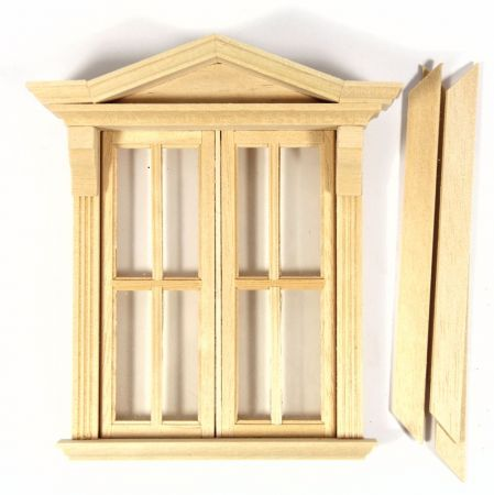 Opening Wooden Window Frame