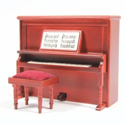 Victorian Upright Piano & Stool
