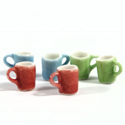 Set of 6 Modern Coloured Mugs