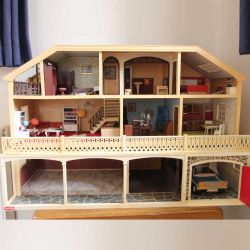 Previously Owned Lundby Dolls House with Furniture