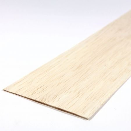 Balsa Wood Sheet 450mm x 100mm x 0.8mm