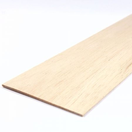 Balsa Wood Sheet 450mm x 100mm x 2.5mm