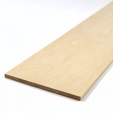 Basswood Sheet 450mm x 100mm x 5.0mm