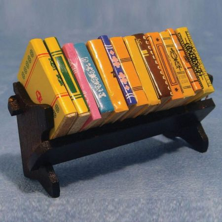 12th Scale Books with Book Shelf