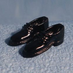 Dolls House 12th Scale Black Shoes