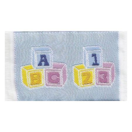 Dolls House Rug - Nursery Blocks - Blue - Mini