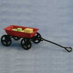 Childs Trolley & Blocks Toy