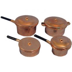 Copper Pots x4