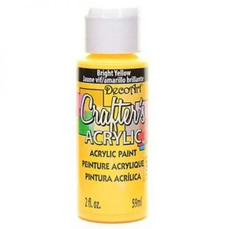 Crafters Acrylic - 59ml Acrylic - Bright Yellow