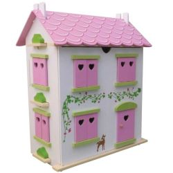 Candy Cottage Dolls House with Furniture