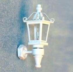 White Dolls House Coach Lamp