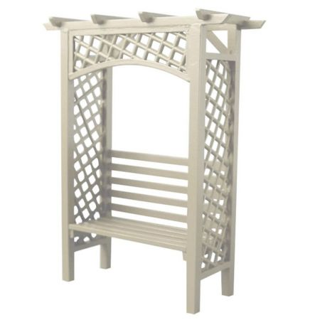 White Arbour Bench