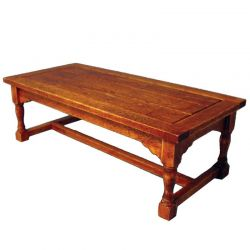 Refectory Table with Oak Finish