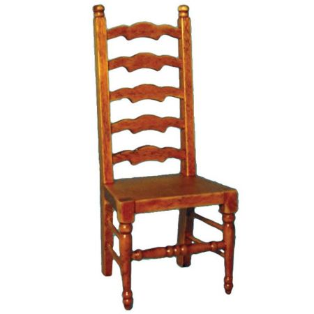 Ladderback Chair with Oak Finish