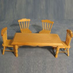 Pine Kitchen Table & 4 Chairs