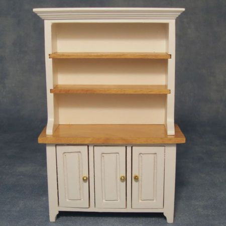 White & Pine Kitchen Dresser