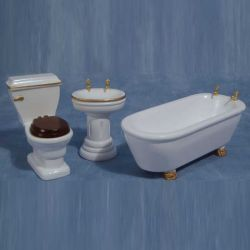 Sink & Bath From 3 Piece Dolls House Bathroom Set