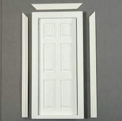 Interior Dolls House Door (White Painted)