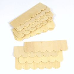 Wooden Roof Tile Strips (Curved) x12