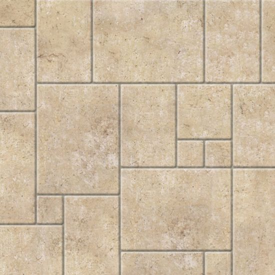 Embossed Limestone Flagstones Tile Sheet