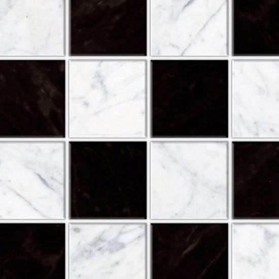 Embossed Black & White Chequered Tile Sheet